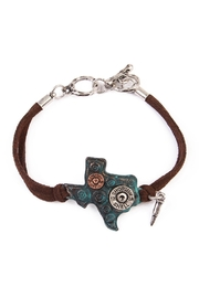 Riah Fashion Texas Charm Bracelet - Product Mini Image