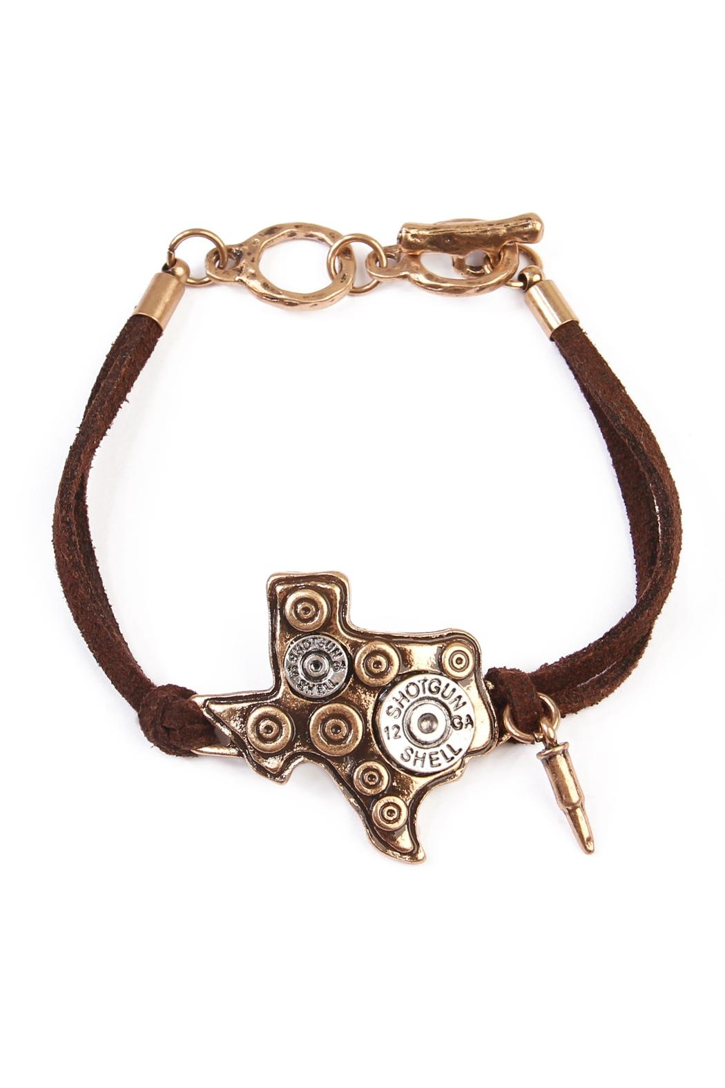Riah Fashion Texas Charm Bracelet Front Cropped Image