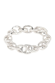 Riah Fashion Textured-Chain-Bracelet - Front cropped