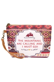Riah Fashion Mountains Calling Cosmetic Bag - Front cropped