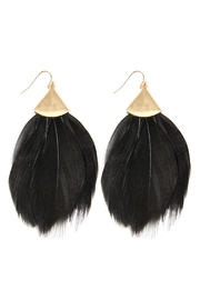 Riah Fashion Three-Inch Feather-Metal Hook-Earrings - Product Mini Image