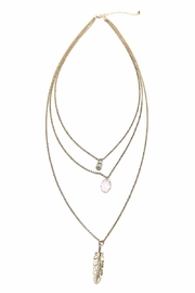 Riah Fashion Three Layer Boho Necklace - Product Mini Image