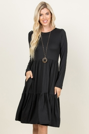 Riah Fashion Three-Layer Midi Pocket-Dress - Product Mini Image