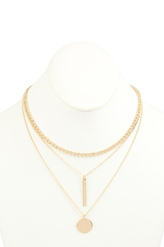 Riah Fashion Three-Layered-Chain-Pendant-Necklace - Product List Image