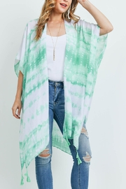 Riah Fashion Tie Dye Dash Tassel Kimono - Product Mini Image