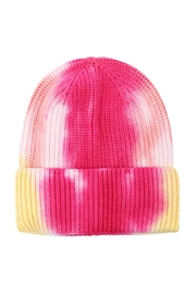 Riah Fashion Tie-Dye-Knitted-Multicolor-Beanie - Front full body