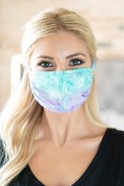 Riah Fashion Tie Dye Reusable Face Mask For Adults - Product Mini Image