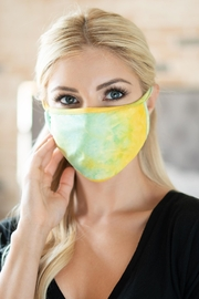 Riah Fashion Tie Dye Reusable Face Mask For Adults With Filter Pocket - Product Mini Image