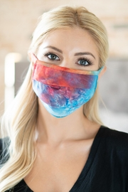 Riah Fashion Tie Dye Reusable Pleated Face Mask For Adults - Product Mini Image