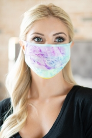 Riah Fashion Tie Dye Reusable Pleated Face Masks For Adults - Product Mini Image