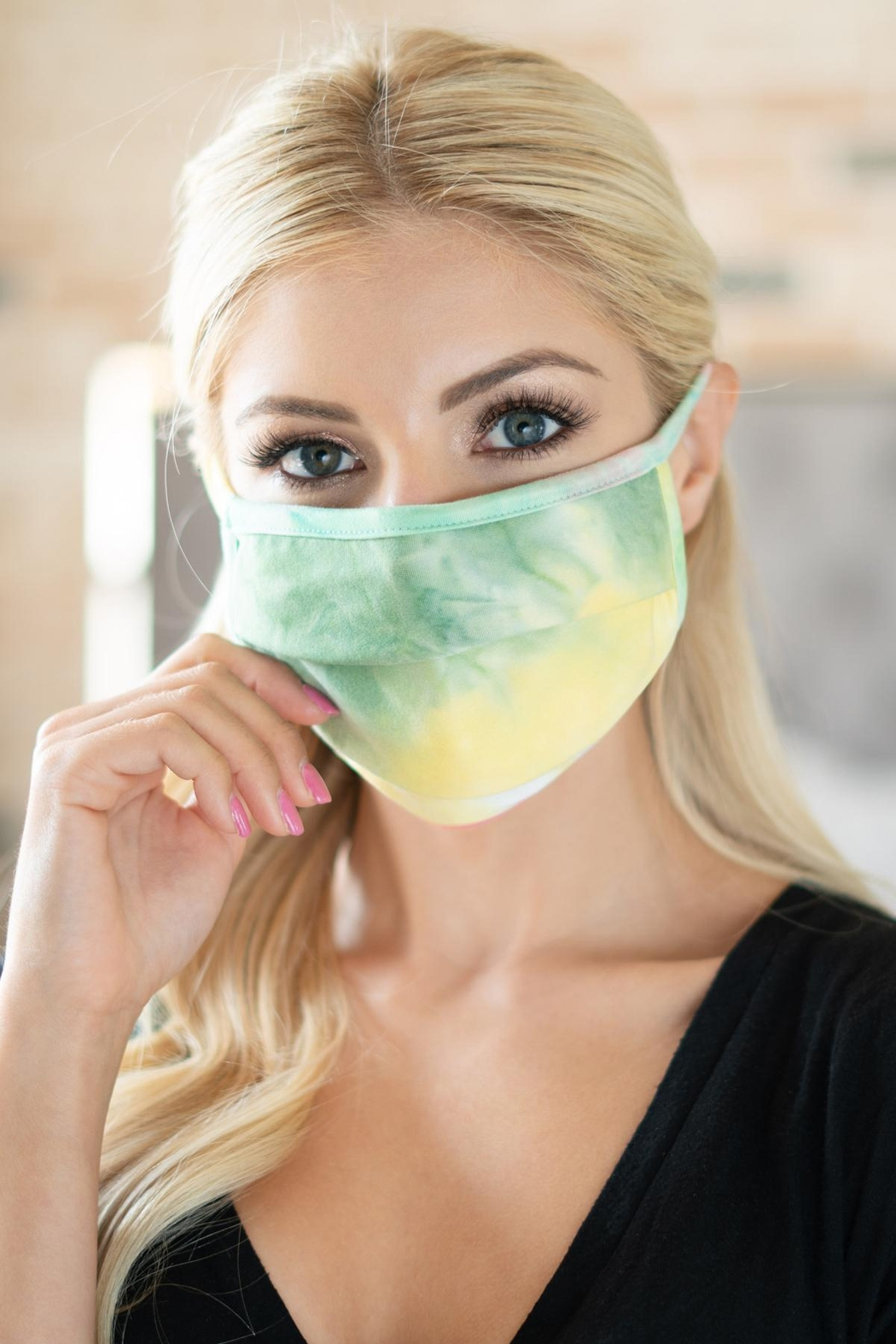 Riah Fashion Tie-Dye-Reusable-Pleated-Face-Masks-For-Adults - Main Image
