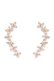 Riah Fashion Tiny-Flower Crawler Earrings - Product Mini Image