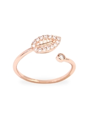 Riah Fashion Tiny Leaf Ring - Product Mini Image
