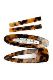 Riah Fashion Tortoise Acrylic Hair-Clip - Front cropped