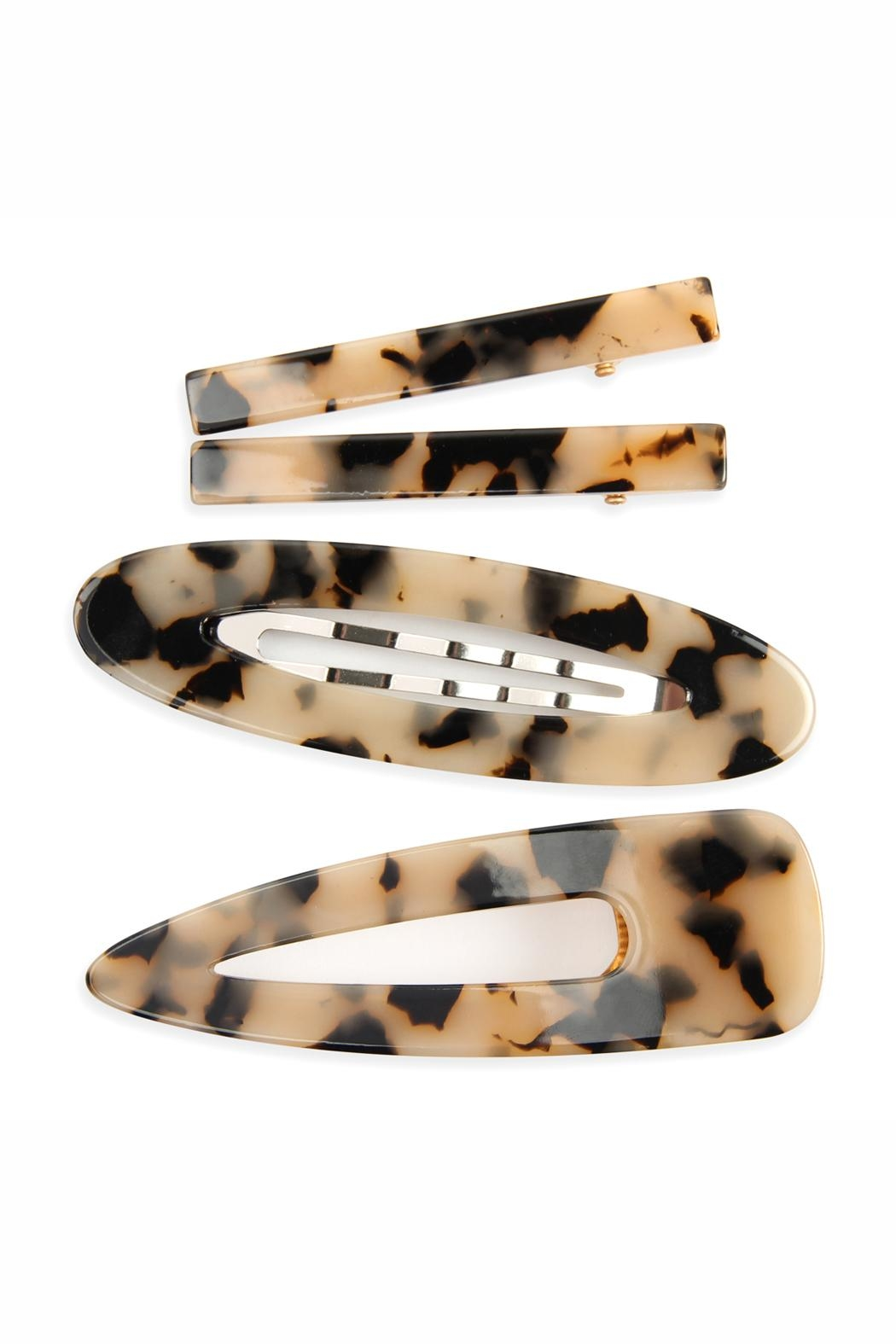 Riah Fashion Tortoise Acrylic Hair-Clip - Front Cropped Image