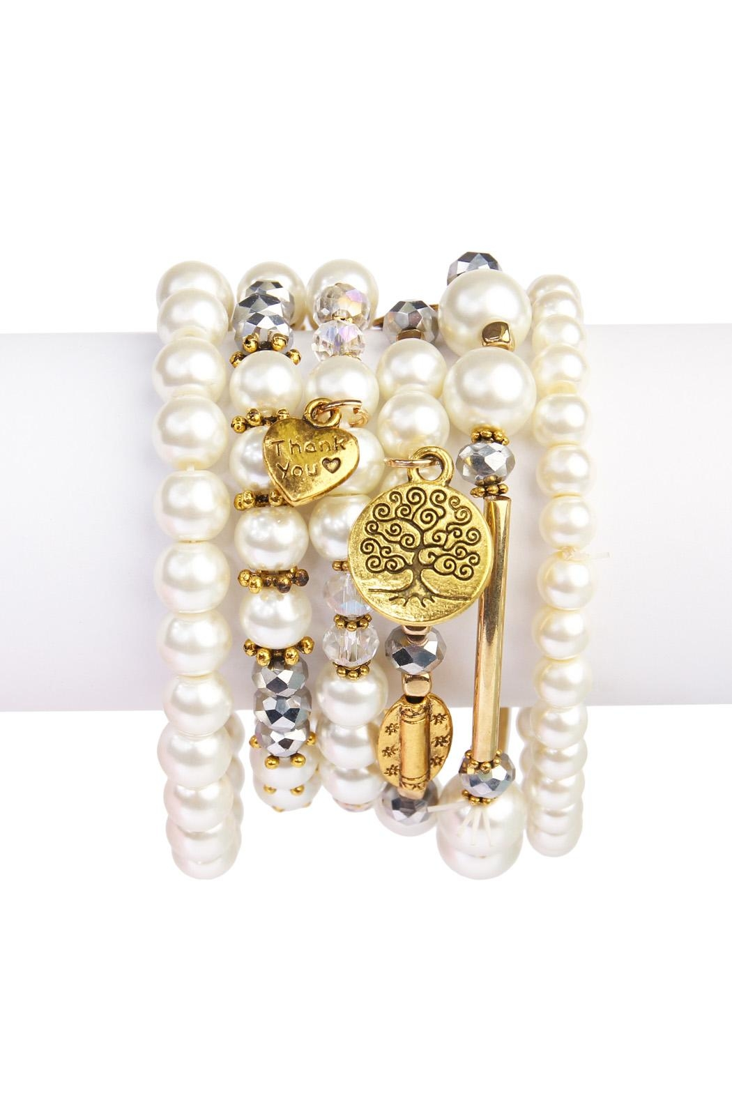 Riah Fashion Charmed Bracelet - Front Cropped Image
