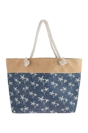 Riah Fashion Tree Stamped Tote Bag - Product Mini Image