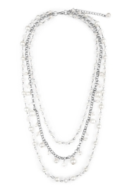 Riah Fashion Tri-Layer Statement Necklace - Product Mini Image