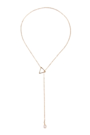 Riah Fashion Triangle Pearl  Necklace - Product Mini Image