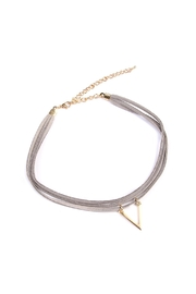 Riah Fashion Triangle Pendant Choker - Front cropped