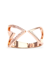 Riah Fashion Triangular Geometric Wrap Ring - Front cropped