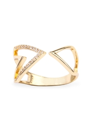 Riah Fashion Triangular Geometric Wrap Ring - Product Mini Image