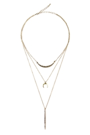 Riah Fashion Tribal Choker Necklace - Front cropped