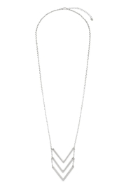 Riah Fashion Triple Chevron V-Necklace - Front cropped