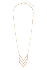 Riah Fashion Triple Chevron V-Necklace - Product Mini Image