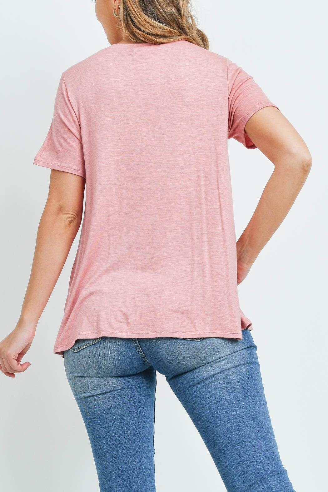 Riah Fashion Triple Strap Neck Solid Top - Front Full Image
