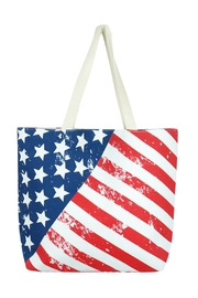 Riah Fashion Tropical-American Flag Beach Bag - Product Mini Image