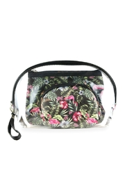 Riah Fashion Tropical-Falmingo-And-Clear-3pcs-Pouches - Product Mini Image