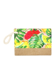 Riah Fashion Tropical Fruits Pouch - Front cropped