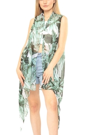 Riah Fashion Tropical-Leaves-Kimono-Vest - Product Mini Image
