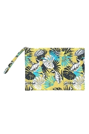 Riah Fashion Tropical Leaves Pouch - Product Mini Image