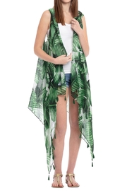 Riah Fashion Tropical Leaves Tassel Vest - Product Mini Image