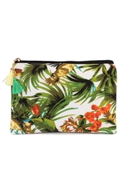 Riah Fashion Tropical-Print Cosmetic Bag - Product Mini Image