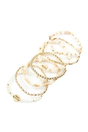 Riah Fashion Truly Blessed Charm Mix Beads Bracelet - Front full body