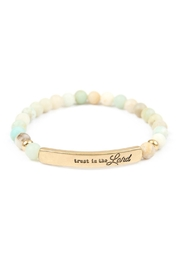 Riah Fashion Trust-In-The-Lord-Natural-Stone-Stretch-Bracelet - Product Mini Image