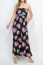 Riah Fashion Tube-Top-Floral-Pocket-Maxi-Dress-With-Inside-Lining - Other