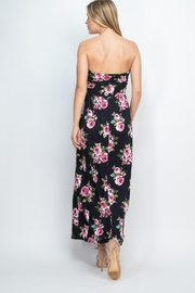Riah Fashion Tube-Top-Floral-Pocket-Maxi-Dress-With-Inside-Lining - Front full body