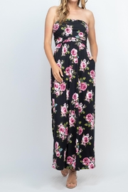Riah Fashion Tube-Top-Floral-Pocket-Maxi-Dress-With-Inside-Lining - Product Mini Image