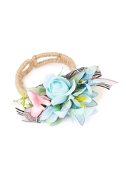 Riah Fashion Tulip Cuff Bracelet - Front cropped