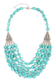 Riah Fashion Triangle Pebble Layer Necklace - Product Mini Image