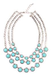 Riah Fashion Turquoise Bib Necklace - Product Mini Image