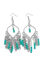 Riah Fashion Turquoise Chandelier Dangle Earrings - Product Mini Image