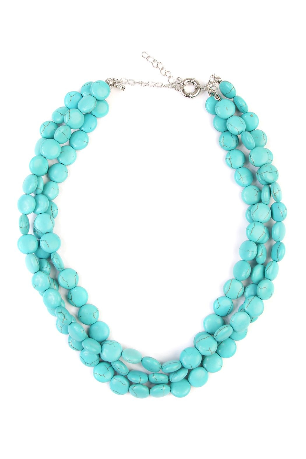 Riah Fashion Turquoise Rhodonite Necklace - Main Image