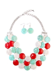 Riah Fashion Turquoise Layered-Stone Necklace - Product Mini Image