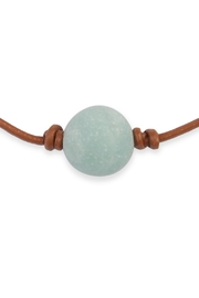 Riah Fashion Turquoise Natural Stone Necklace - Front full body