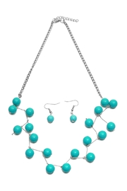 Riah Fashion Turquoise Necklace Set - Front cropped